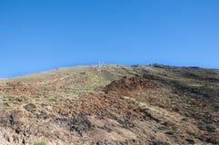2011 Canarian wyspy Czerwiec Lanzarote park narodowy timanfaya Zdjęcie Royalty Free