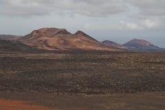 2011 Canarian wyspy Czerwiec Lanzarote park narodowy timanfaya Obraz Royalty Free
