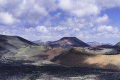 2011 Canarian wyspy Czerwiec Lanzarote park narodowy timanfaya Obrazy Stock