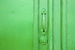 Canarias Espagne abstraite en bois fermée verte en laiton Photos stock