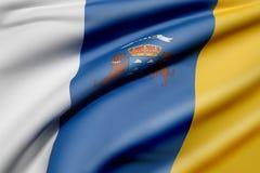 Canarias flag Royalty Free Stock Photo