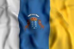 Canarias flag waving Royalty Free Stock Image