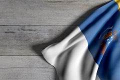 Canarias flag on wood Stock Photography
