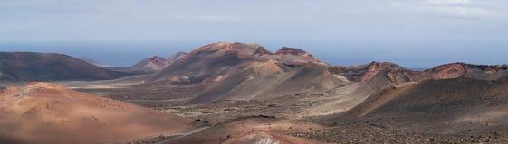Canarias volcánicas de Lanzarote de la reserva natural Fotografía de archivo libre de regalías