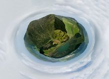 Canario viewpoint. In Sao Miguel island, Azores, Portugal royalty free stock image