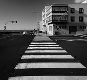 Canarische Eilanden La Palma crosswalk Licht en Schaduw Rebecca 36 stock fotografie