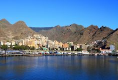 Canarische Eilanden, Tenerife: Santa Cruz de Tenerife - Haven Royalty-vrije Stock Foto's