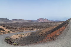 Canary Islands scenery volcanic road Royalty Free Stock Image