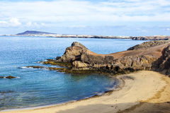 canary de islands lanzarote papagayo playa 免版税库存图片