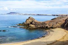 canary de islands Lanzarote playa papagayo Στοκ εικόνες με δικαίωμα ελεύθερης χρήσης