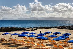 Canary island beach Royalty Free Stock Photos
