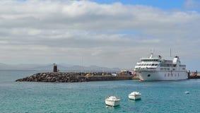 Canary Island Ferry. Sails from Playa Blanca Lanzarote to Corralejo Fuerteventura Stock Photo