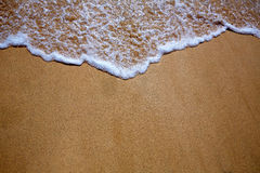 Canary Islands beach sand and wave texture Royalty Free Stock Images