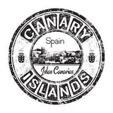 Canary Islands grunge rubber stamp. Black grunge rubber stamp with the name of Canary Islands written inside the stamp Stock Photos