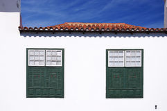 Canary Islands house windows Royalty Free Stock Photo