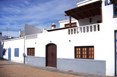 Canary Islands houses Stock Photo