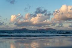 Canary Islands, Lanzarote, Graciosa island view stock photography