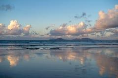 Canary Islands, Lanzarote, Graciosa island view stock images