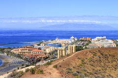 Canary Islands. Sea view with mountains. Canary Islands stock photography