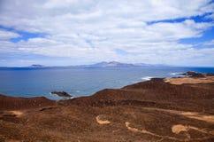 Canary Islands, small island Isla de Lobos Royalty Free Stock Image