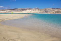 Canary Islands, Spain Sotavento Beach in Fuerteventura,. Sotavento Beach in Fuerteventura Canary Islands, Spain royalty free stock photos