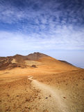 Canary Islands, Tenerife. Malpais or volcanic badland around Pico Viejo, Old Peak, second highest peak of Tenerife and the Canary Islands Royalty Free Stock Images