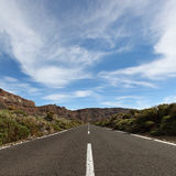 Canary Islands Tenerife landscape with road Royalty Free Stock Photo