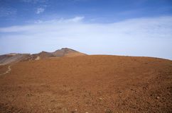 Canary Islands, Tenerife. Malpais or volcanic badland around Pico Viejo, Old Peak, second highest peak of Tenerife and the Canary Islands Stock Photography