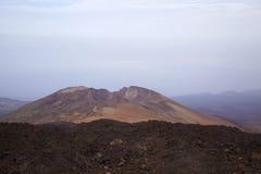 Canary Islands, Tenerife. Malpais or volcanic badland around Pico Viejo, Old Peak, second highest peak of Tenerife and the Canary Islands Royalty Free Stock Image