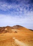 Canary Islands, Tenerife. Malpais or volcanic badland around Pico Viejo, Old Peak, second highest peak of Tenerife and the Canary Islands Royalty Free Stock Photo