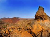 Canary islands in Tenerife Teide National Park Royalty Free Stock Photos
