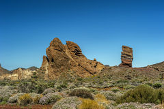 Canary Islands , Tenerife, volcano Teide. Rock the finger of God Royalty Free Stock Image