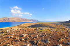 Canary islands; view from Graciosa to Lanzarote Stock Image
