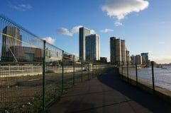 Canary Wharf ścieżka Obrazy Royalty Free