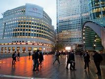 Canary Wharf, Λονδίνο Στοκ φωτογραφία με δικαίωμα ελεύθερης χρήσης