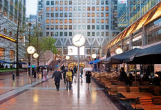 Canary Wharf, Λονδίνο Στοκ Εικόνα
