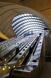 Canary Wharf. Underground station in London Royalty Free Stock Photos