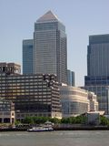 Canary Wharf. Shot from across the Thames, London royalty free stock image