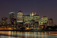 Canary Wharf royaltyfri fotografi