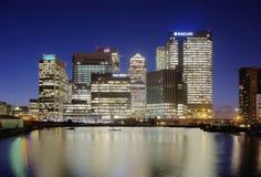 Canary Wharf fotografie stock