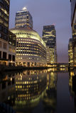 Canary Wharf. At night.(Docklands, London royalty free stock photos