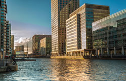 Canary Wharf as dusk Royalty Free Stock Photography