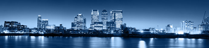 Canary Wharf At Twilight Stock Image