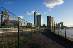 Canary Wharf bana Royaltyfria Bilder