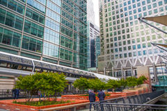 Canary Wharf banking and business center Stock Image