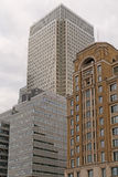 Canary Wharf budynki Zdjęcie Royalty Free