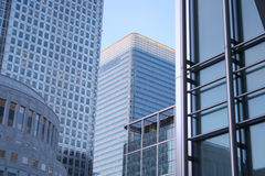 Canary wharf buildings Royalty Free Stock Photography