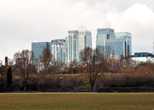 Canary Wharf buildings in London Royalty Free Stock Photography