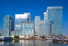 Canary Wharf business and banking aria , London Stock Photo