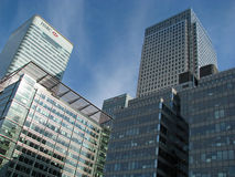 Canary Wharf business district in London Stock Images